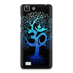 A beautiful blue tree with Om inscribed Vivo X5 hard plastic printed back cover