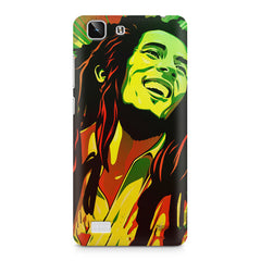 Bob Marley Multi colour fun Portrait Painting  capturing him in his happy avatar Vivo X5 hard plastic printed back cover