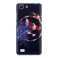 American Wolf design    Vivo X5 hard plastic printed back cover