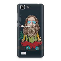 Baba Smoking Cigar design Vivo X5 hard plastic printed back cover