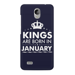 Kings are born in January design    Vivo Y21L hard plastic printed back cover