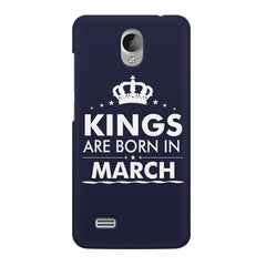 Kings are born in March design    Vivo Y21L hard plastic printed back cover