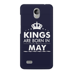 Kings are born in May design    Vivo Y21L hard plastic printed back cover