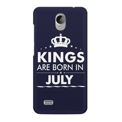 Kings are born in July design    Vivo Y21L hard plastic printed back cover
