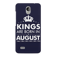 Kings are born in August design    Vivo Y21L hard plastic printed back cover