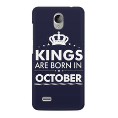 Kings are born in October design    Vivo Y21L hard plastic printed back cover