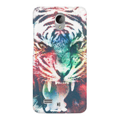 Tiger with a ferocious look Vivo Y21L hard plastic printed back cover