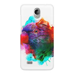 Colourful parrot design Vivo Y21L hard plastic printed back cover