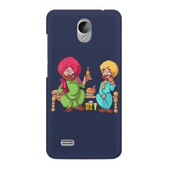 Punjabi sardars with chicken and beer avatar Vivo Y21L hard plastic printed back cover