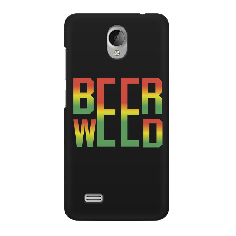 low priced fd3bc b2a9c Beer Weed Vivo Y21L hard plastic printed back cover