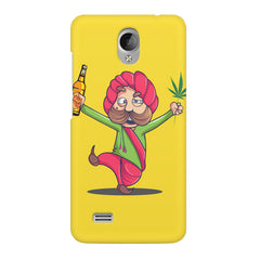 Sardar dancing with Beer and Marijuana  Vivo Y21L hard plastic printed back cover