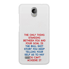 Motivational Quote For Success - Only Thing Between You And Your Goal design,  Vivo Y21L  printed back cover
