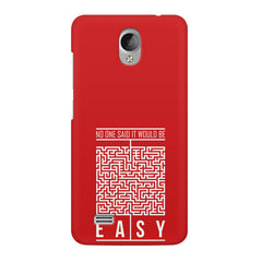 No One Said It Would Be Easy- Start-Up Struggle Quotes design,  Vivo Y21L  printed back cover