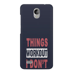 Things Workout I Don'T design,  Vivo Y21L  printed back cover