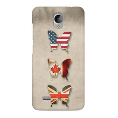 Butterfly in country flag colors Vivo Y21L  printed back cover