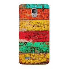 Strips of old painted woods  Vivo Y21L  printed back cover
