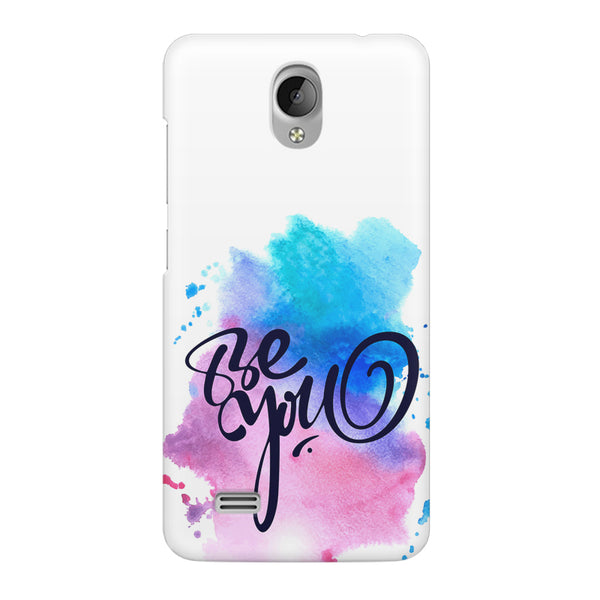 Be yourself design Vivo Y21L  printed back cover