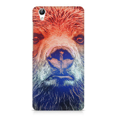Zoomed Bear Design  Vivo Y51L hard plastic printed back cover