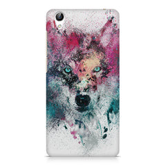 Splashed colours Wolf Design Vivo Y51L hard plastic printed back cover