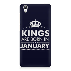Kings are born in January design    Vivo Y51L hard plastic printed back cover