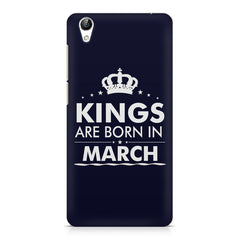 Kings are born in March design    Vivo Y51L hard plastic printed back cover