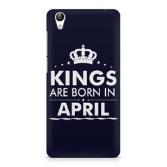 Kings are born in April design    Vivo Y51L hard plastic printed back cover