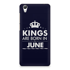 Kings are born in June design    Vivo Y51L hard plastic printed back cover