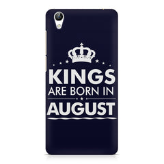 Kings are born in August design    Vivo Y51L hard plastic printed back cover