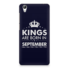 Kings are born in September design    Vivo Y51L hard plastic printed back cover
