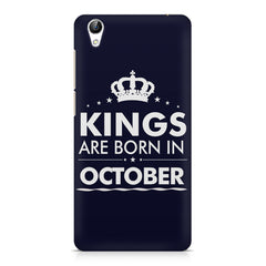 Kings are born in October design    Vivo Y51L hard plastic printed back cover