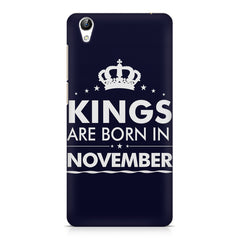 Kings are born in November design    Vivo Y51L hard plastic printed back cover