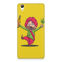 Sardar dancing with Beer and Marijuana  Vivo Y51L hard plastic printed back cover