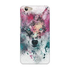 Splashed colours Wolf Design Vivo Y53 hard plastic printed back cover