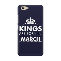 Kings are born in March design    Vivo Y53 hard plastic printed back cover