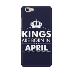 Kings are born in April design    Vivo Y53 hard plastic printed back cover