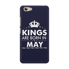 Kings are born in May design    Vivo Y53 hard plastic printed back cover