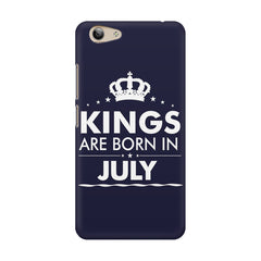 Kings are born in July design    Vivo Y53 hard plastic printed back cover
