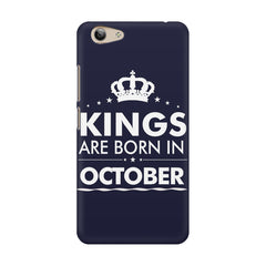 Kings are born in October design    Vivo Y53 hard plastic printed back cover
