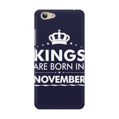 Kings are born in November design    Vivo Y53 hard plastic printed back cover