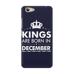 Kings are born in December design    Vivo Y53 hard plastic printed back cover