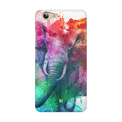 colourful portrait of Elephant Vivo Y53 hard plastic printed back cover