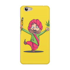 Sardar dancing with Beer and Marijuana  Vivo Y53 hard plastic printed back cover