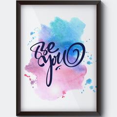 Be yourself design  Wall Art