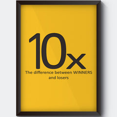 Difference between losers and winners design Wall Art