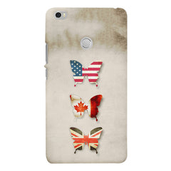 Butterfly in country flag colors  Xiaomi Redmi Mi Max  printed back cover