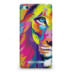 Colourfully Painted Lion design,  Xiaomi Mi4i  printed back cover