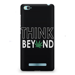 Think beyond weed design Xiaomi Mi4i  printed back cover