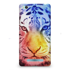 Colourful Tiger Design Xiaomi Mi4i hard plastic printed back cover