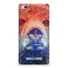 Zoomed Bear Design  Xiaomi Mi4i hard plastic printed back cover