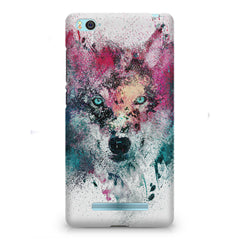 Splashed colours Wolf Design Xiaomi Mi4i hard plastic printed back cover